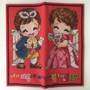 NEW Victorian Boy & Girl Red Wallet Clutch Cosplay
